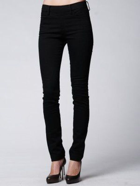 Acne Studios Zip Back Denim Jean in Black (wetblck)