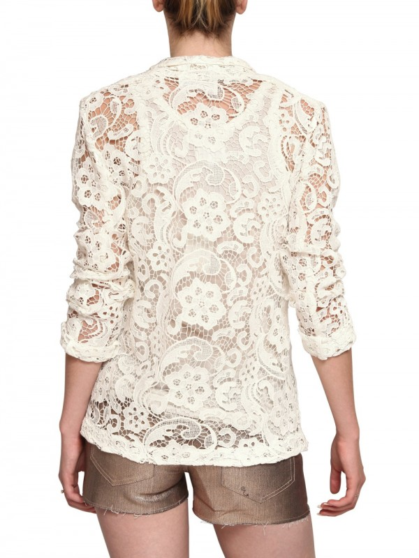 American Retro Lace Jacket In White Lyst