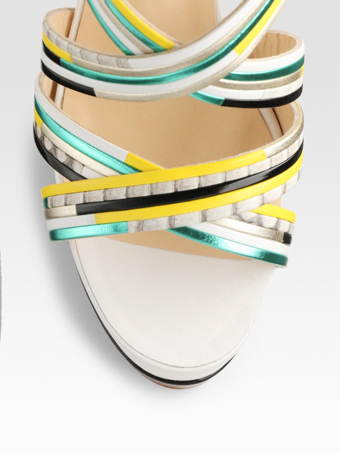 white louis vuitton loafers - Artesur ? christian louboutin peep-toe platform sandals Metallic ...
