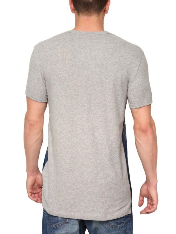 Dolce gabbana silk cotton jersey t shirt in blue for for Cotton silk tee shirts