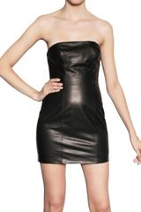 DSquared2 Strapless Nappa Leather Dress