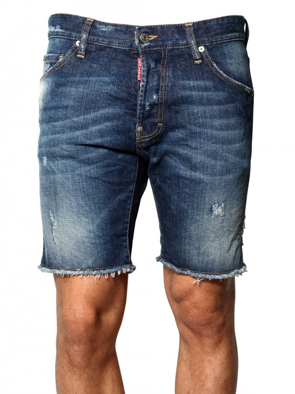 Dsquared² Cool Guy Distressed Denim Shorts in Blue for Men | Lyst