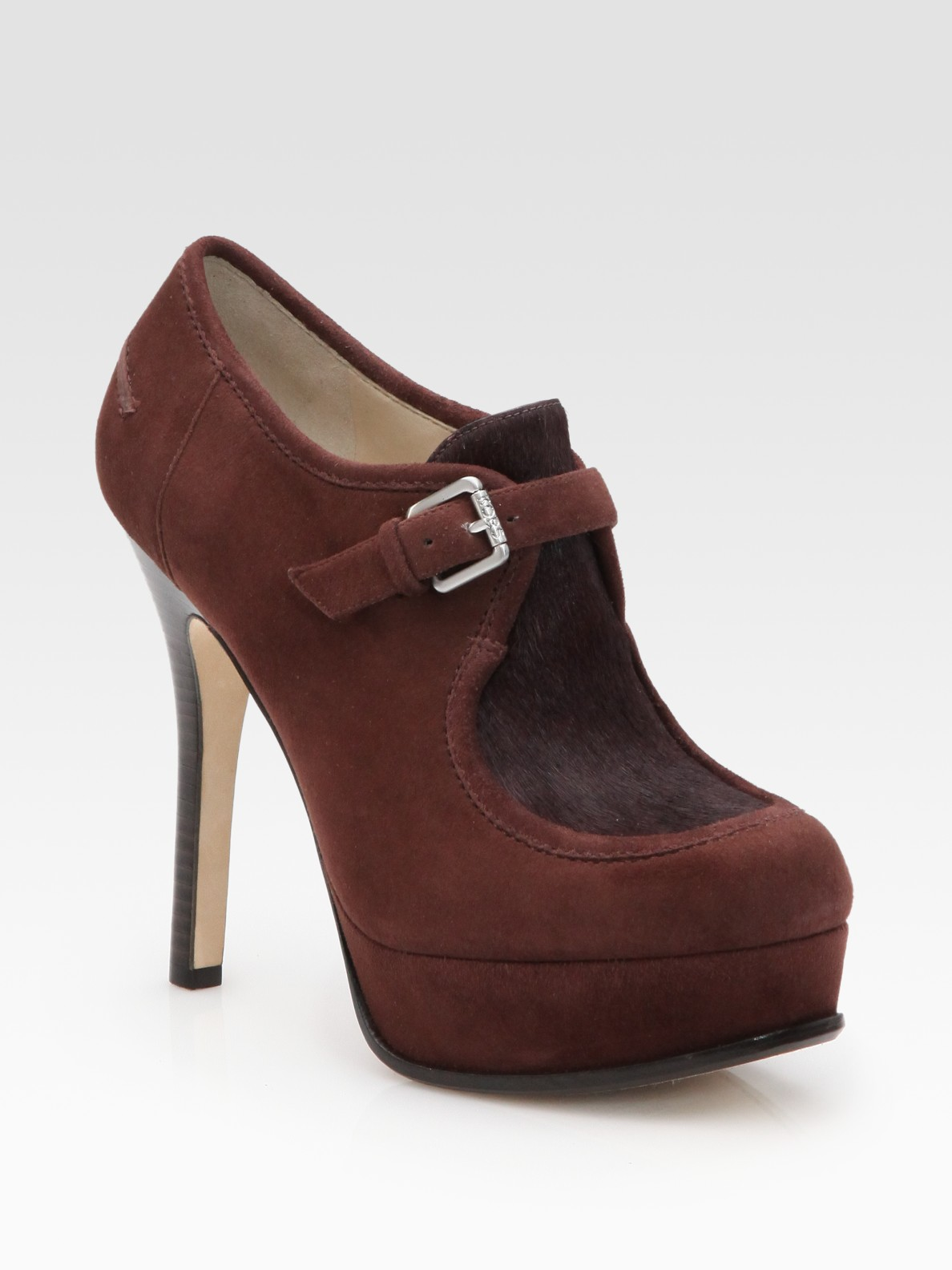 kors by michael kors irving wollabee suede calf hair