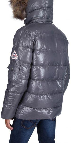 Pyrenex Authentic Raccon Hood Nylon Down Jacket In Gray
