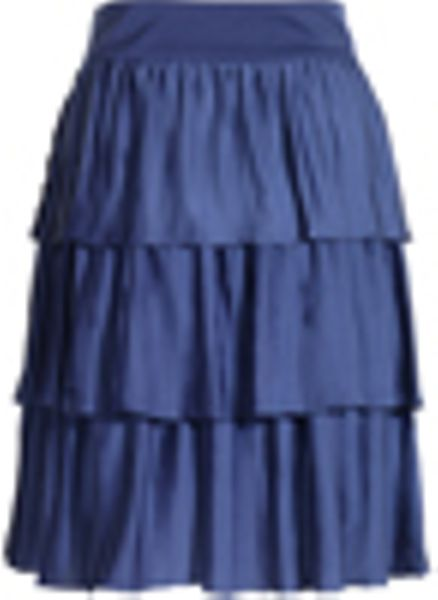 reiss pleated layered skirt in blue sapphire lyst