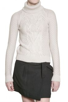 Vanessa Bruno Athé Wool Cable Knit Sweater - Lyst