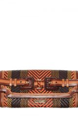 Burberry Prorsum Woven Leather Clutch