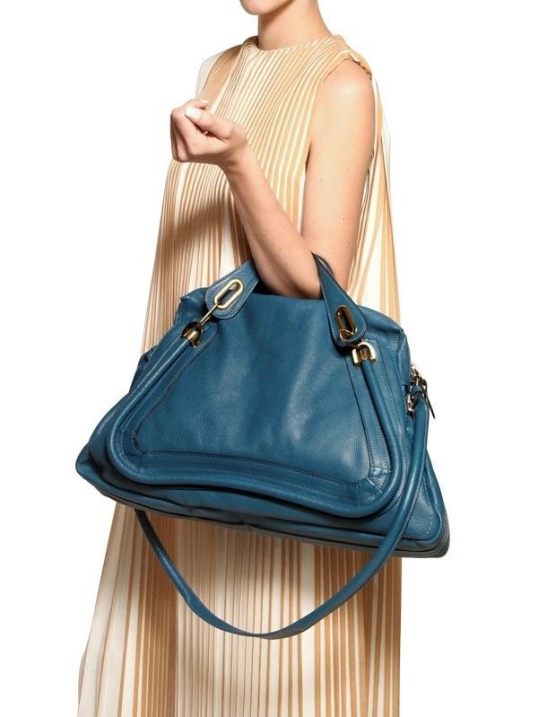 Chlo¨¦ Large Paraty Top Handle in Blue   Lyst