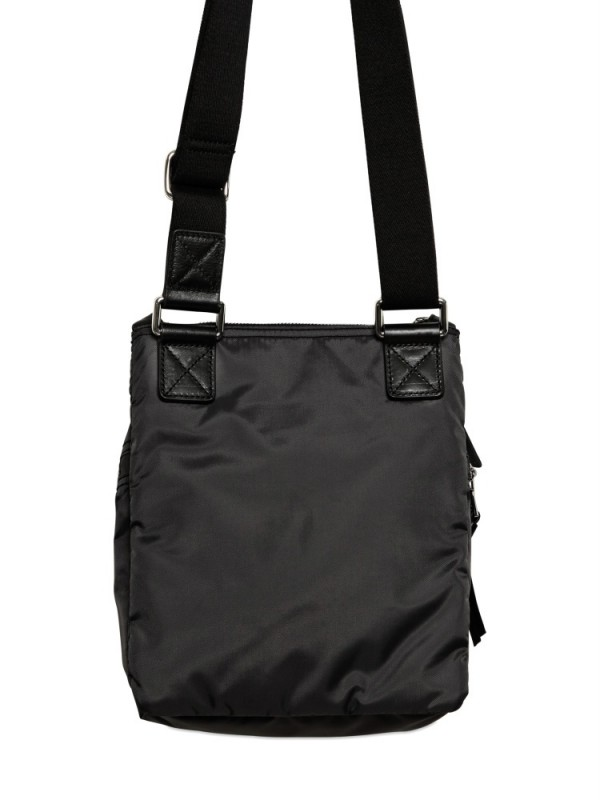 Dolce & gabbana Nylon Flat Shoulder Bag in Black for Men | Lyst