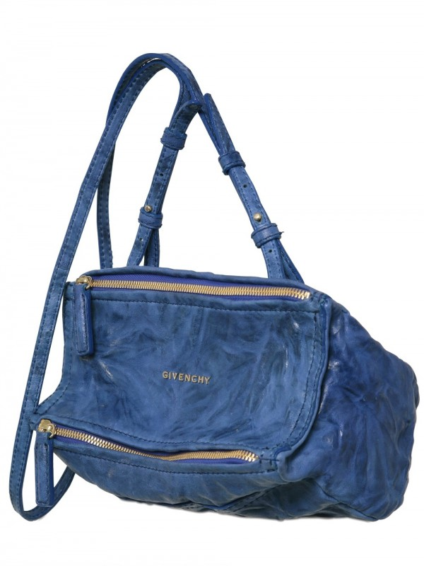 499db6e315 Lyst - Givenchy Pandora Mini Washed Leather Shoulder Bag in Blue