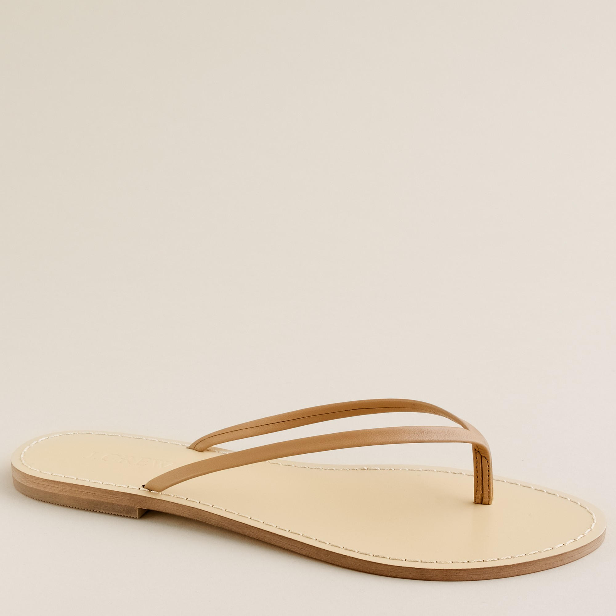c81b6f60179f Lyst - J.Crew Leather Capri Sandals in Natural