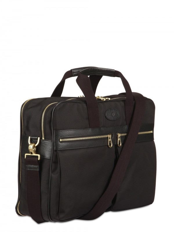 494e9f5161 ... promo code for lyst mulberry henry overnight nylon briefcase bag in  black for men 30d74 b326d