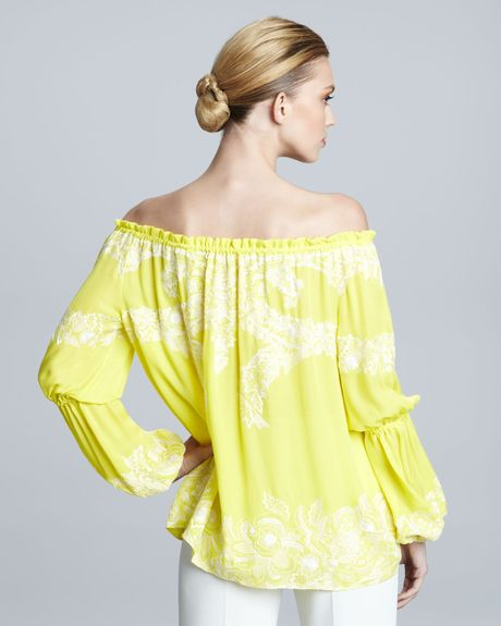 Yellow Peasant Blouse 76