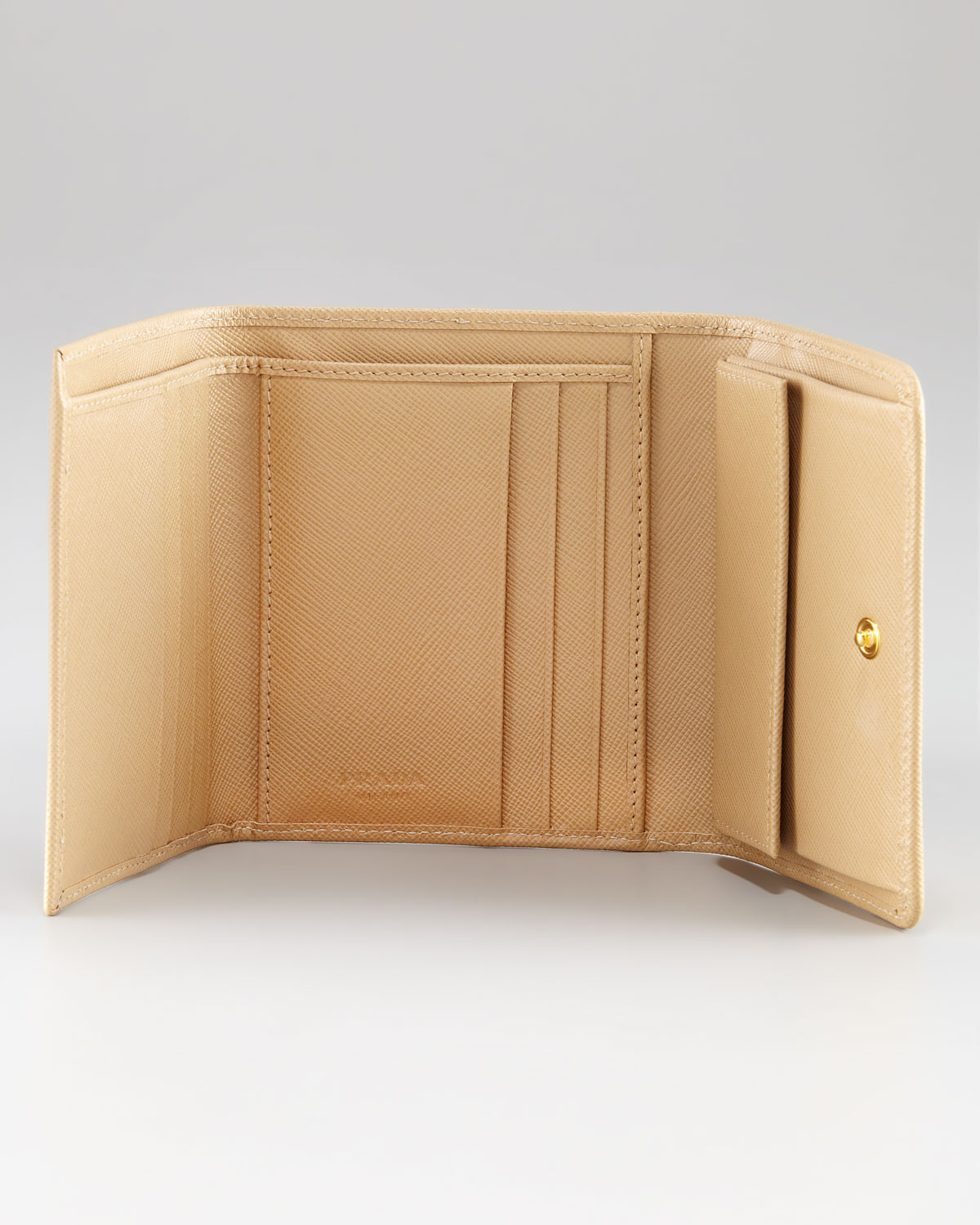 Prada Small French Coin Wallet in Beige (036 sabbia) | Lyst