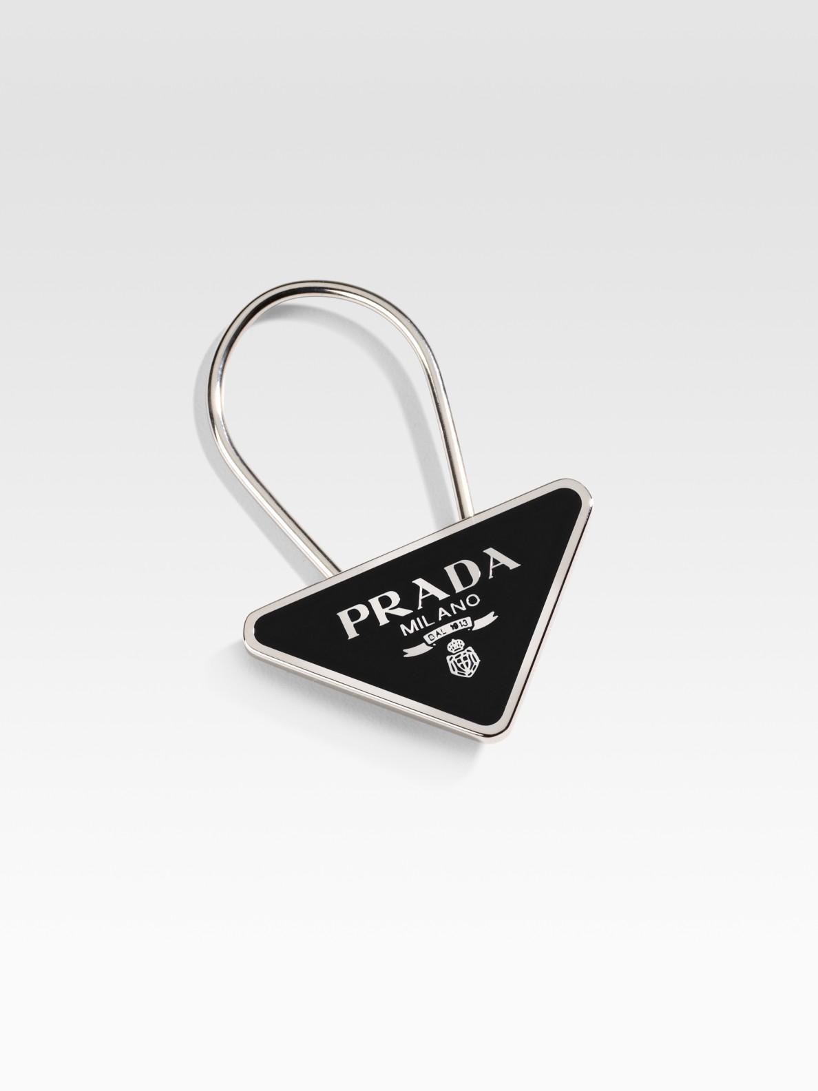 Prada logo key ring - Black 1SThUh