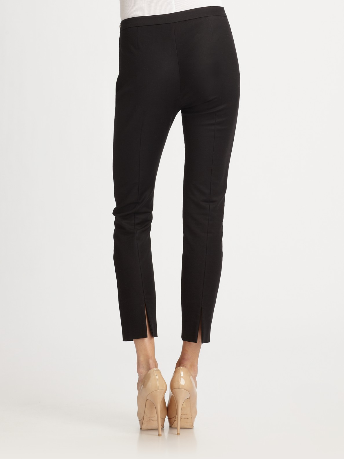 Acne studios Best Cotton Stretch Pants in Black | Lyst