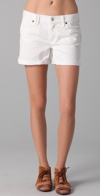 Madewell White Denim Shorts in White | Lyst