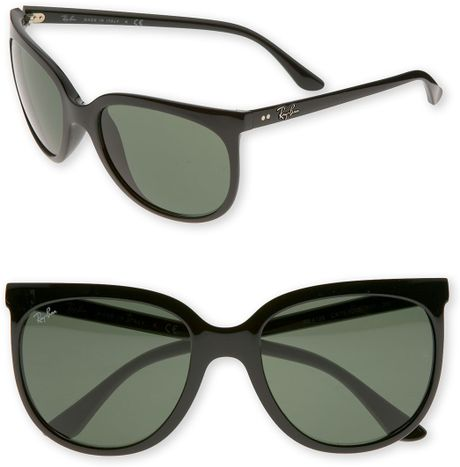 ray ban retro cat eye sunglasses in black lyst. Black Bedroom Furniture Sets. Home Design Ideas