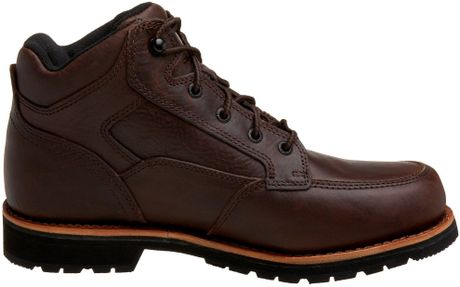 Carhartt Mens Leather Chukka Work Boot In Brown For Men Lyst