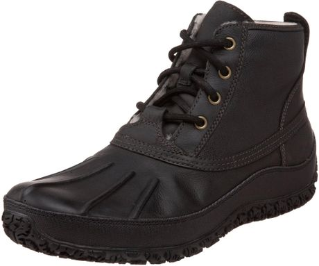 cole haan mens air vail winter boot boot in black for