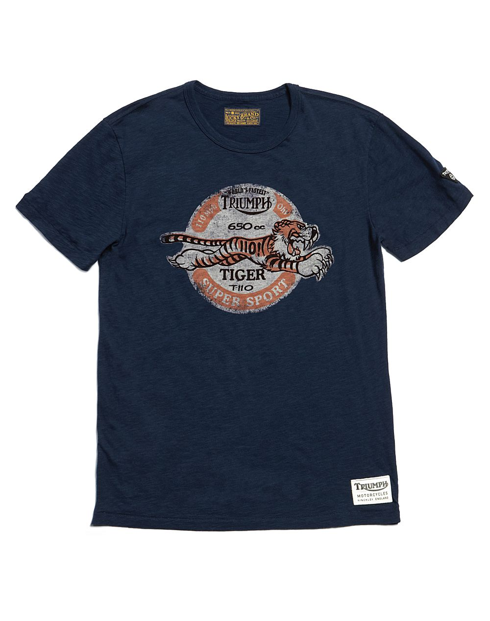 Lucky Brand Triumph Tiger T Shirt In Blue For Men