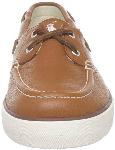 Polo Ralph Lauren Polo Ralph Lauren Mens Sander Boat Shoe in Brown for