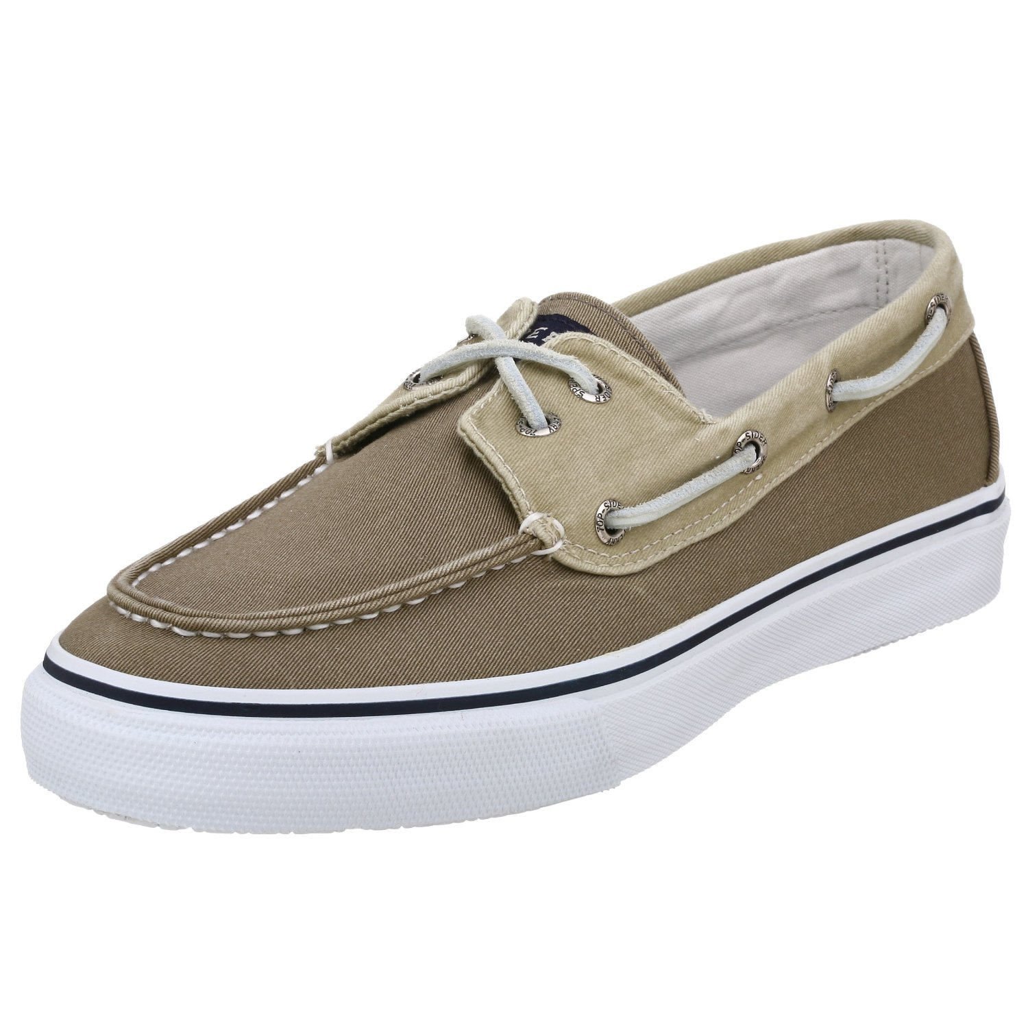 Sperry Topsider Mens Bahama 2 Eye Boat Shoe in Khaki for Men khaki