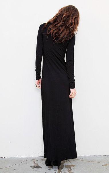 Splendid Long Sleeve Maxi Dress In Black Lyst