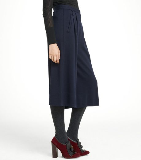 Tory Burch Bette Pant In Blue Navy Lyst