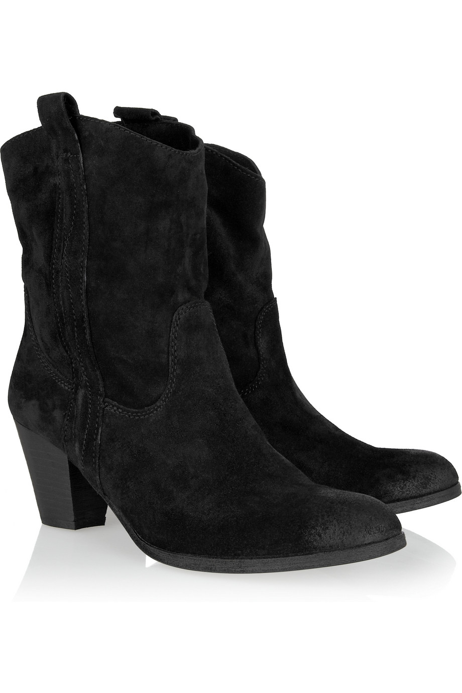 black suede western ankle boots | Gommap Blog