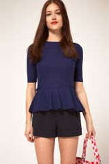 ASOS Collection Asos Top with 40s Peplum