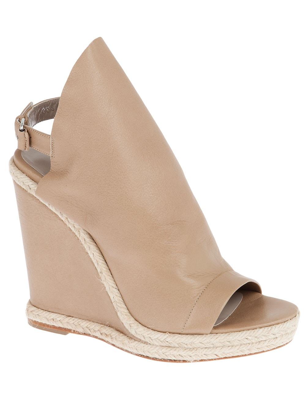 Balenciaga Wedge Sandal In Beige Lyst