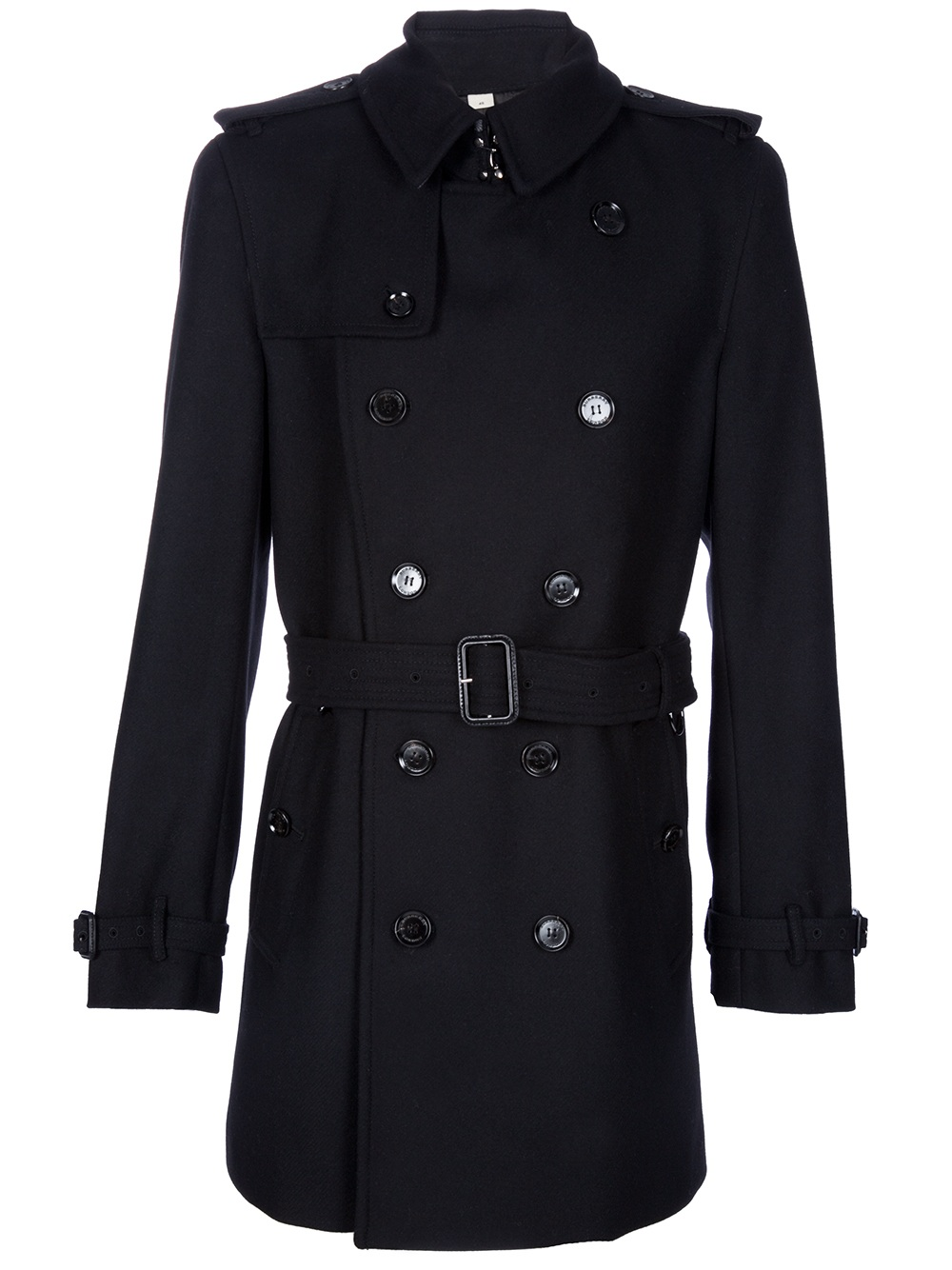 Burberry Short Trench Coat In Black For Men