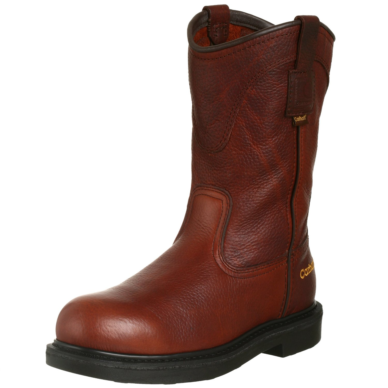 carhartt mens clean tred pull on work boot in brown for