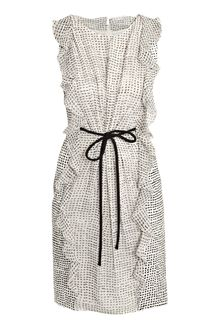 Giambattista Valli Line and Silk Spot Dress - Lyst