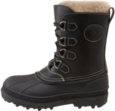 kamik mens pearson cold weather boot in black for lyst