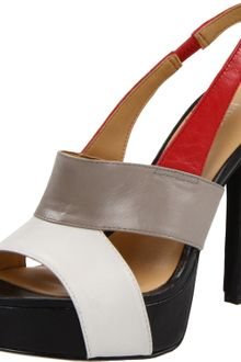 Nine West Womens Fairgame Open Toe Pump - Lyst