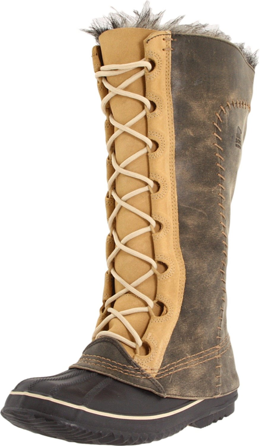 SOREL WOMENS CATE THE GREAT SNOW WINTER BOOTS LACE UP