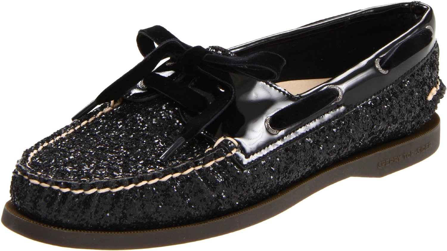 sperry top sider sperry topsider womens ao boat shoe in black