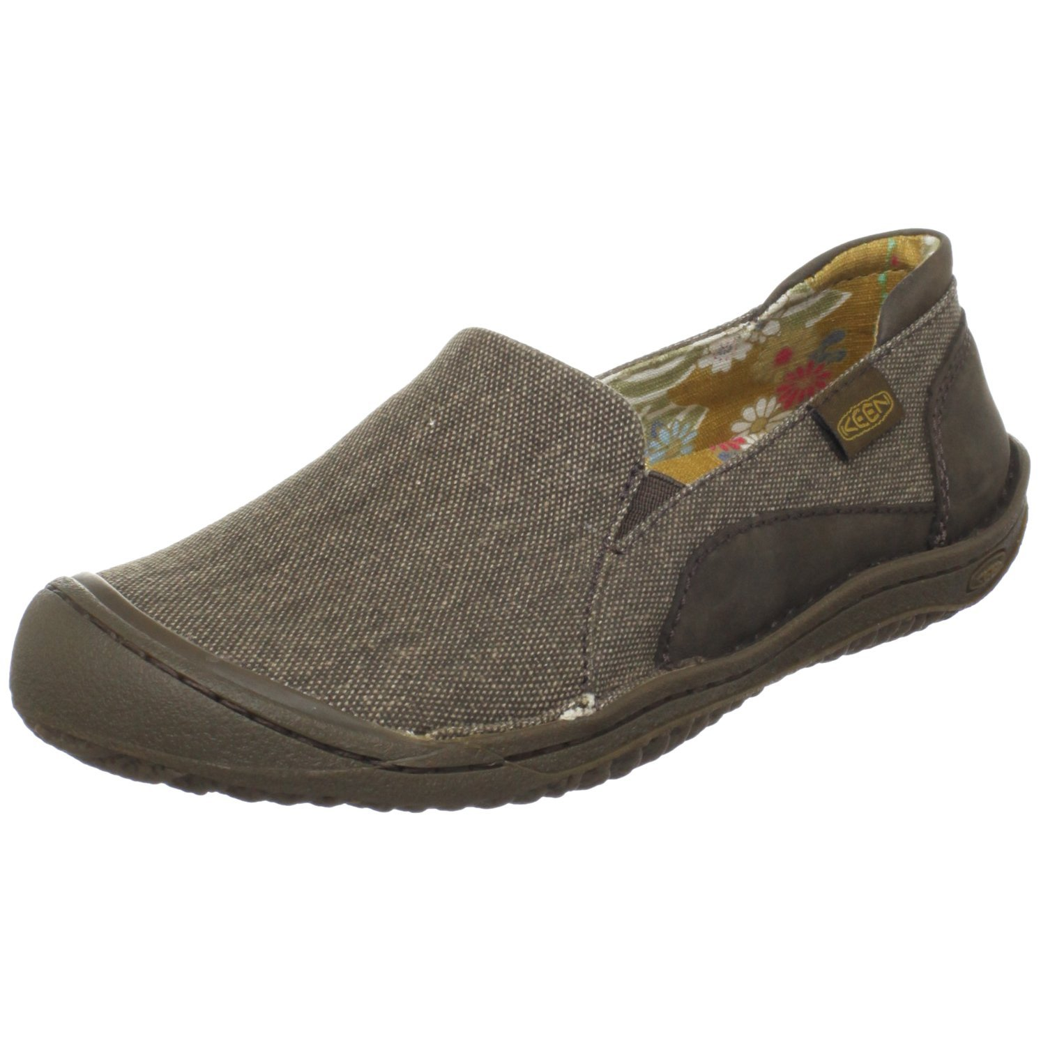 keen womens summer golden slip on in brown chocolate chip