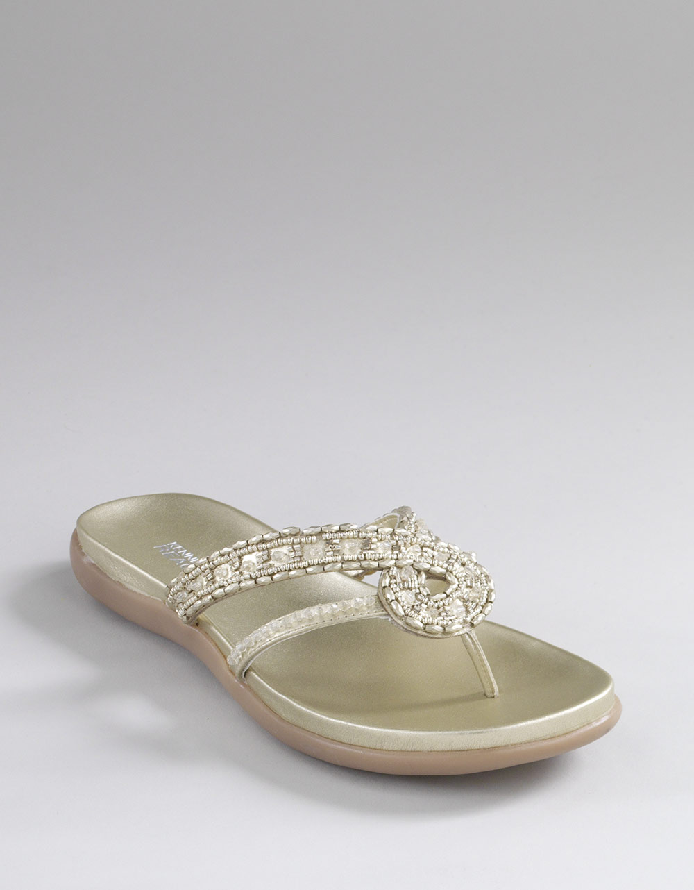 5a3d57ea730552 Kenneth Cole Reaction Glam Life Beaded Sandals in Metallic - Lyst
