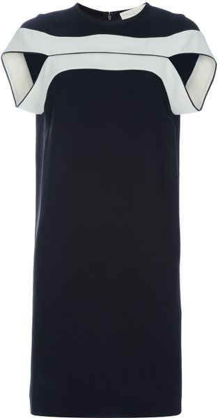 Stella Mccartney Stripe Dress in Black