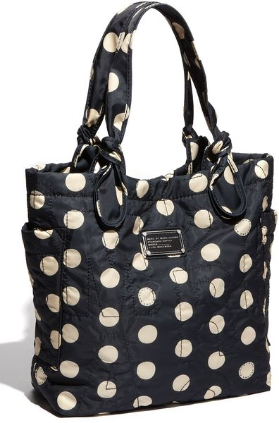 Marc By Marc Jacobs Pretty Nylon - Little Tate Tote in Black (black/ cream) - Lyst