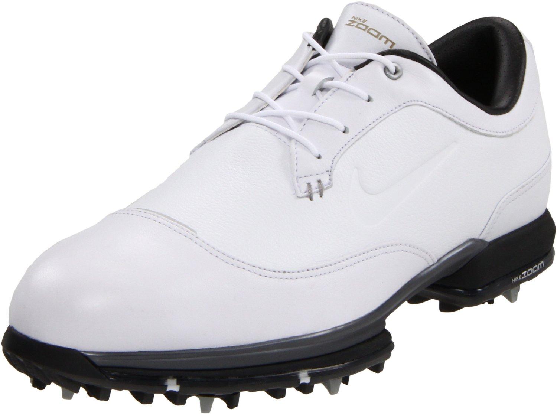 nike golf mens tour premium golf shoe in white for