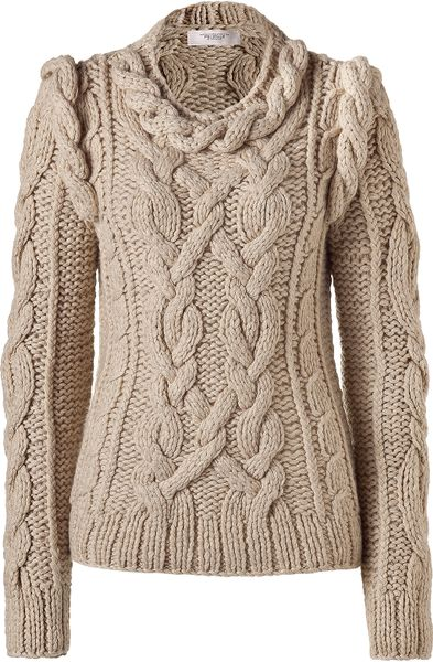 Pringle Of Scotland Oatmeal Cashmere Pullover in Beige ...