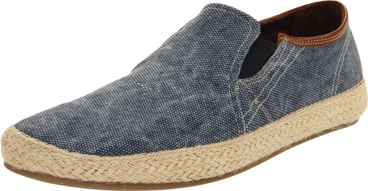cole haan mens shaw slip on in blue for navy canvas