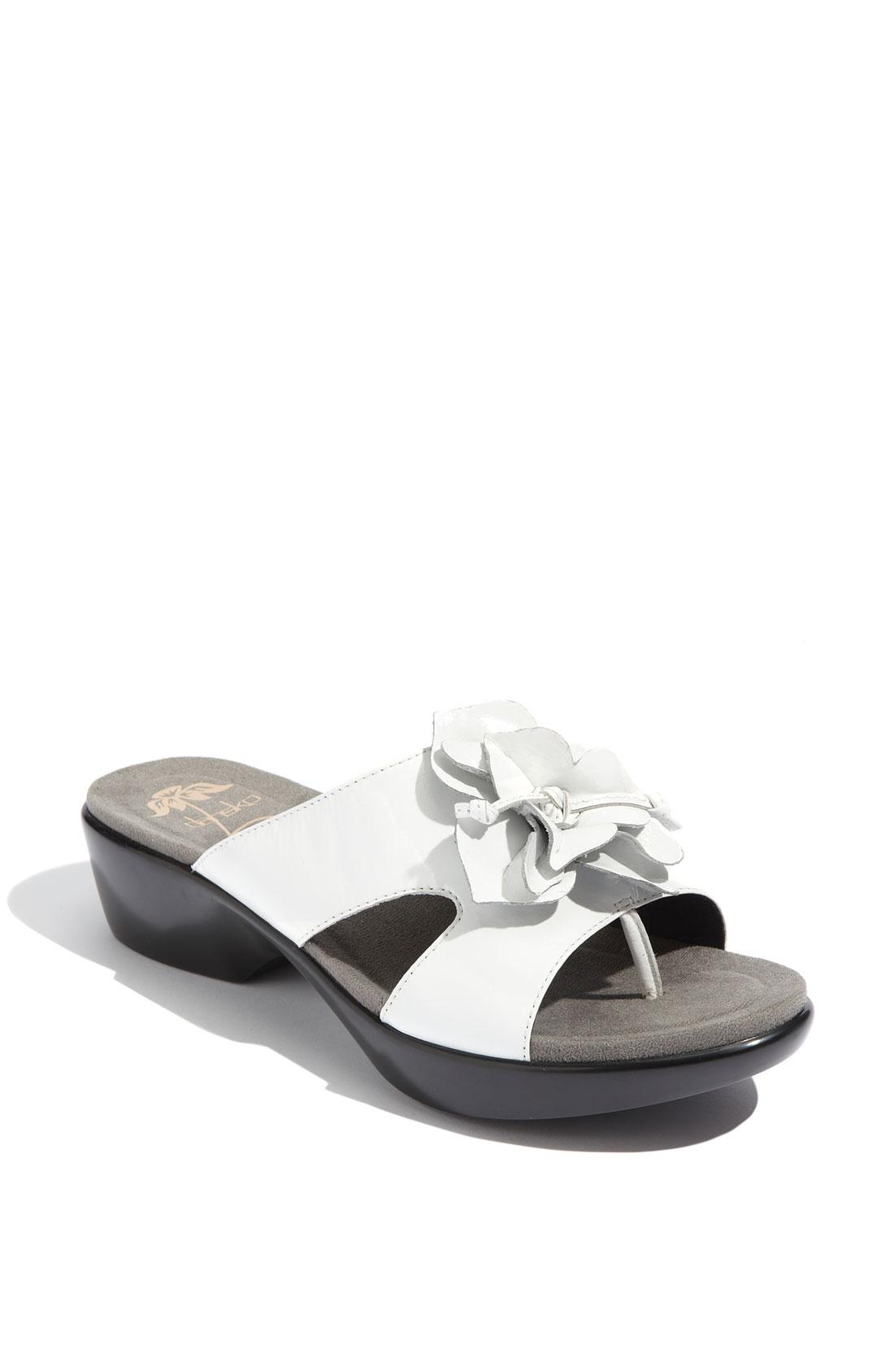 Dansko Dahlia Clog Sandal In White White Patent Lyst