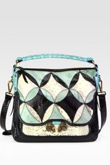 Derek Lam Small Anthea Snake-Embossed Leather Shoulder Bag