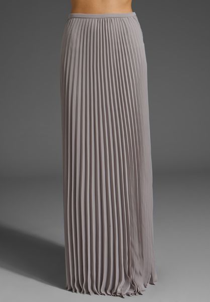 heritage pleated skirt in gray grey lyst