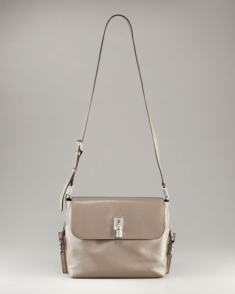 Marc Jacobs Paradise Baxter Shoulder Bag in Gray (black w  silver)